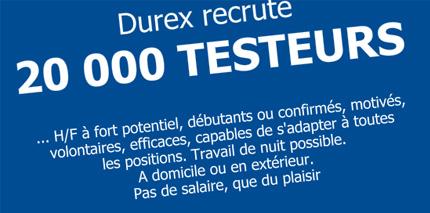 Producteur suédois des préservatifs cherche des testeurs